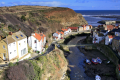 View over Staithes village