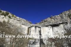 Autumn, Malham Cove, limestone cliffs, Malhamdale