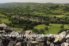 View over Newbiggin village, Bishopdale