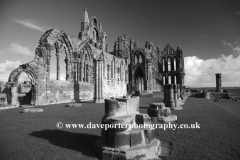 The ruins of Whitby Abbey Priory, Whitby town