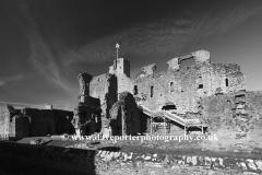 Ruins of Middleham castle, Middleham village