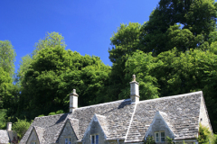 Cottage gardens, Bibury village