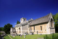 St Marys Church, Bibury village, Cotswolds, England, UK