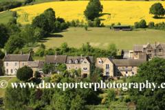 Summer view over Cottages in Naunton village