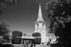 St Marys Church, Lower Slaughter village, Gloucestershire Cotswolds, England, UK