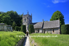 St Peters Church Upper Slaughter Oxfordshire Cotswolds