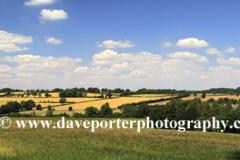 Summer landscape fields near Northleach town