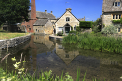 Watermill and Cottages, Lower Slaughter village