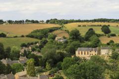 Summer view over Naunton village