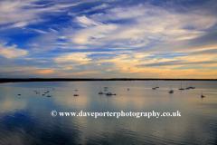 Dawn over Poole Bay, Jurassic coastline, Dorset county; England; Britain; UK
