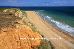 view of Hengistbury Head sand cliffs, Dorset county; England; UK