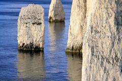 J1728 The Pinnacles Seastacks Poole Bay Jurassic coastline, Dorset; England; Britain; UK