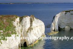 Old Harry Rocks, Studland bay, Jurassic coastline, Dorset; England; Britain; UK