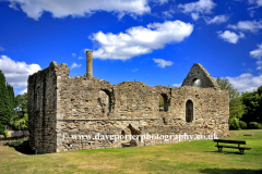 Ruins of the Norman Hall in Christchurch town, Dorset, England, UK
