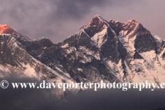 Sunset, Mount Everest, Himalayas, Nepal