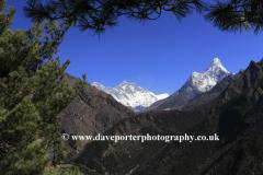 Snow, Ama Dablam Mountain, Himalayas, Nepal