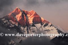 Sunset over Lhotse mountain, Himalayas, Nepal