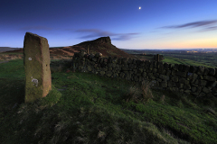 Dusk, Hen Cloud rocks, Upper Hulme, Staffordshire, England, UK