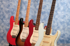 Commercial image of a set of Electric Guitars