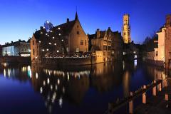 River Dijver and the Belfort tower, Bruges City