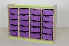Commercial image of a set of drawers for schools