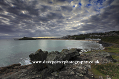 Rocks on Clodgy Point, Porthmeor beach, St Ives
