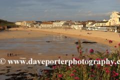Sunset, Porthmeor beach, St Ives town