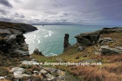 Rugged shoreline, Port Isaac Bay near Tintagel town