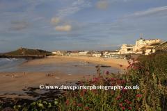 Sunset Porthmeor beach, St Ives town