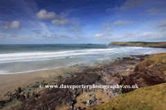Rugged shoreline, Padstow Bay, Padstow