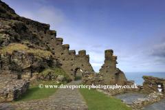 Ruins of Tintagel Castle, Tintagel town