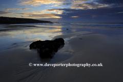 Sunset colours, Porthmeor beach, St Ives town