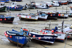 Fishing boats in the harbour, St Ives town