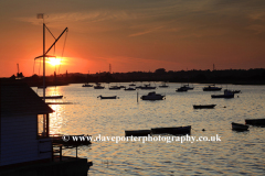 Boats on the river Stour estuary, Manningtree town