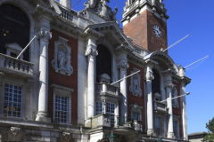 The Victorian town hall, high street, Colchester town