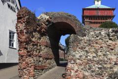 The Balkerne Gate, Roman Walls, Colchester town