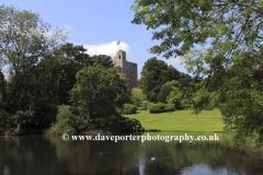 Hedingham Castle in the village of Castle Hedingham