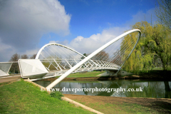 The Butterfly Bridge, River Great Ouse, Bedford; Bedfordshire, England, UK