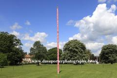 May Pole, Ickwell village Green, Bedfordshire, England, UK