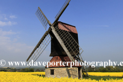 Summer view of Stevington Windmill, Stevington village