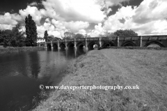 the river Great Ouse, Great Barford village, Bedfordshire, England, UK