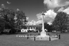 Memorial cross, Ickwell village Green