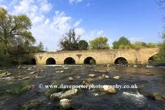 Stone bridge, river Great Ouse , Bromham village