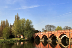 Bridge over the river Great Ouse, Great Barford village