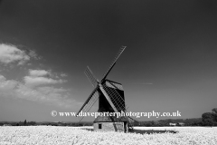 Summer view of Stevington Windmill, Stevington village, Bedfordshire, England, UK