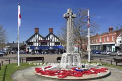 Summer, August, July, War Memorial, Sandy town, Bedfordshire, England, UK