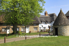 Spring, April, May, village green, Harrold village, Bedfordshire, England, UK