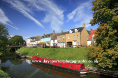 Spring, April, May, Narrowboats, river Nene, March Town, Cambridgeshire; England, UK