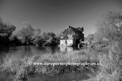 Houghton Mill river Great Ouse, Houghton village, Cambridgeshire, England UK