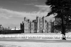 Winter Snow, Burghley House, Cambridgeshire, England, Britain, UK